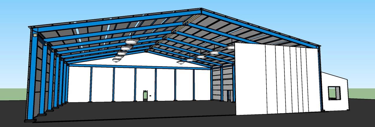 Çelik konstrüksiyon hangar yapımı maliyeti
