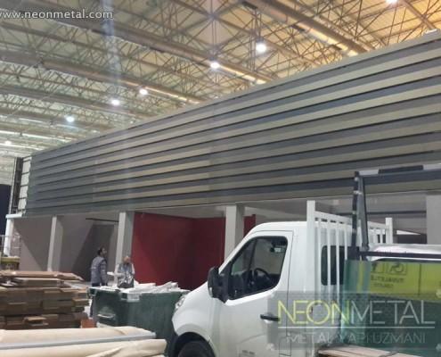 Çelik konstrüksiyon fuar standi