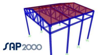 SAP 2000 Çelik Konstrüksiyon fabrika statik proje çizim hesaplama fiyatları